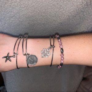 Set of 4 Alex & Ani bracelets
